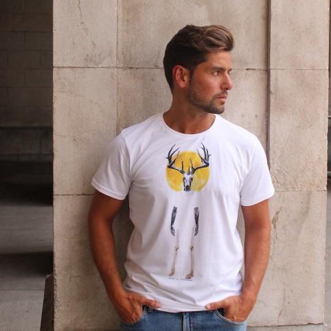 Camiseta efecto desteñido de manga corta